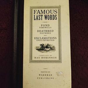 Famous Last Words Book